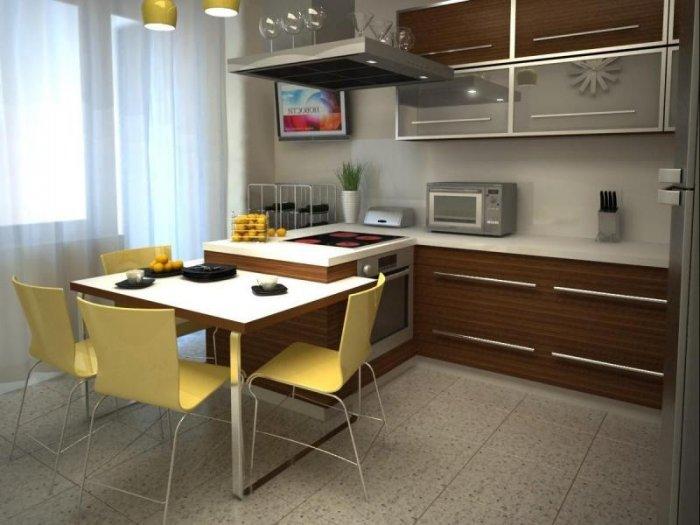 Кухня дизайн интерьер 9 кв метров недорого