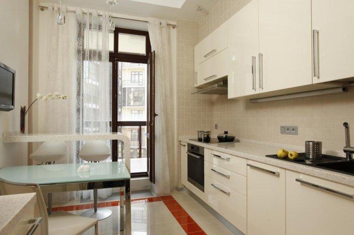 Дизайн кухни 8.5 м с балконом