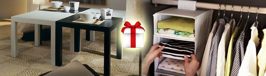 Журнальный столик и модуль для одежды в подарок при заказе шкафа-купе